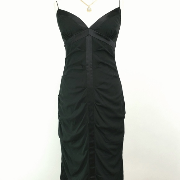 34805e8dd0 Nicole Miller Semi-formal Formal Black Silk Dress.  M 5afda1b761ca108b46777a08